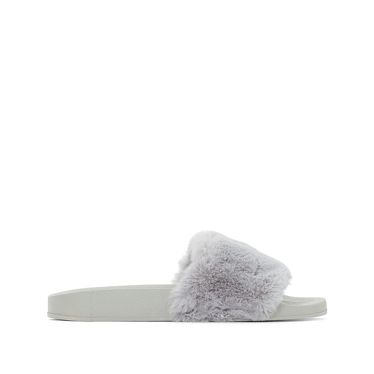 Туфли без задника на меху WaikikiДетали •  Туфли без задника •  Высота каблука : 2 см •  Застежка : без застежки •  Открытый мысок •  Гладкая отделкаСостав и уход •  Верх 100% синтетический материал •  Подкладка 100% синтетический материал •  Стелька 100% синтетический материал •  Подошва 100% синтетический материал<br><br>Цвет: серый