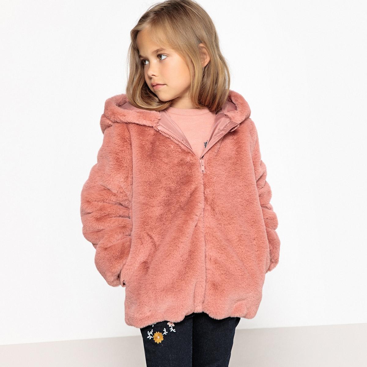 Пальто мягкое с капюшоном, 3-12 лет La Redoute Collections