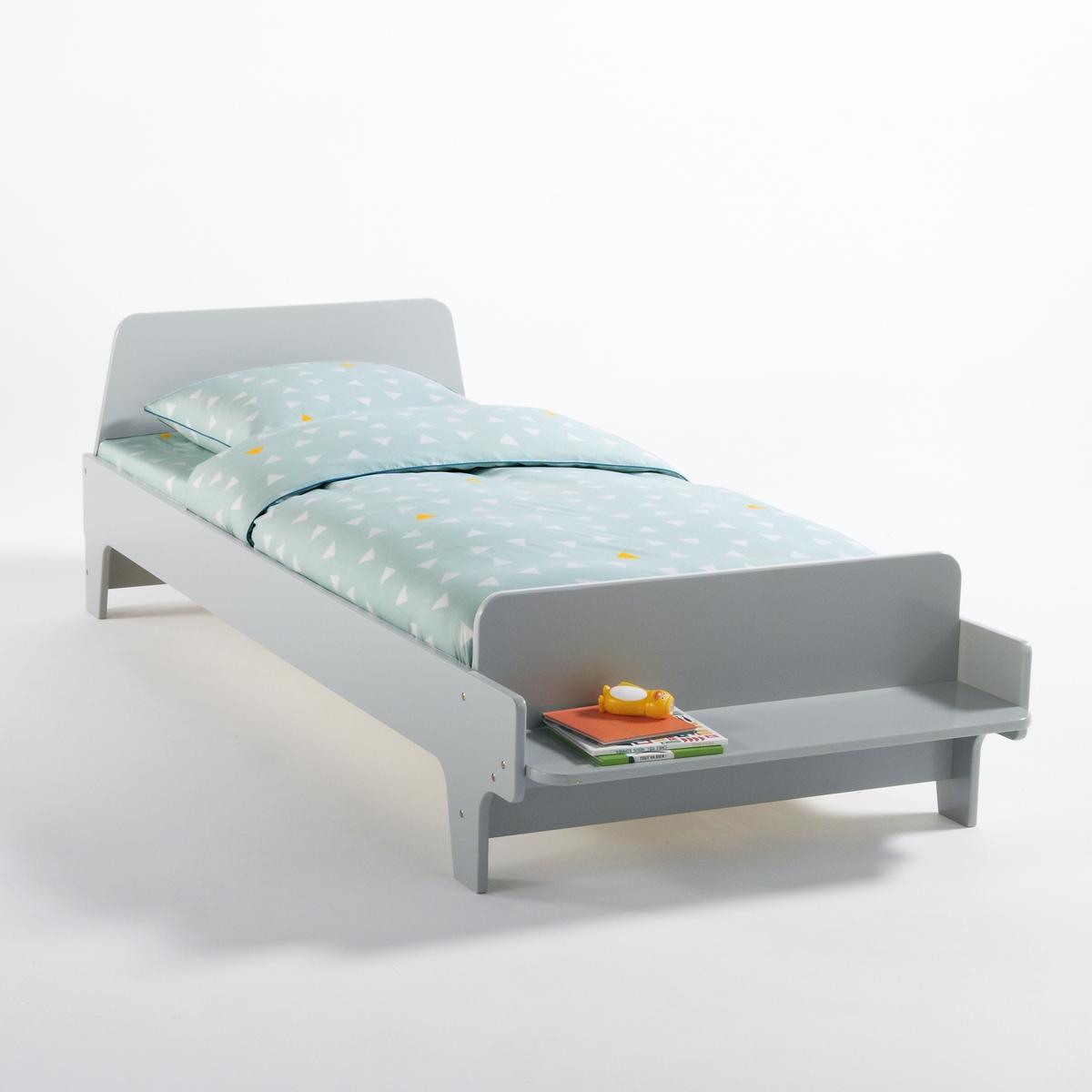 Кровать-скамья La Redoute Детская с основой под матрас Nutto 90 x 190 см серый кровать la redoute с основой под матрас trianon 140 x 190 см белый