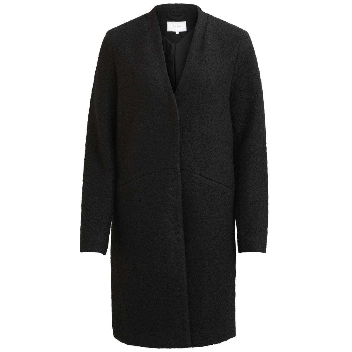 Пальто прямого покроя с V-образным вырезомОписание:Теплое пальто отличного покроя для всех женщин - просто незаменимо . Потайная застежка на пуговицы и невидимые карманы подчеркивают его безупречный дизайн .Детали •  Длина : средняя •   V-образный вырез • Застежка на пуговицыСостав и уход •  40% шерсти, 60% полиэстера •  Следуйте рекомендациям по уходу, указанным на этикетке изделия<br><br>Цвет: черный<br>Размер: L.M.S