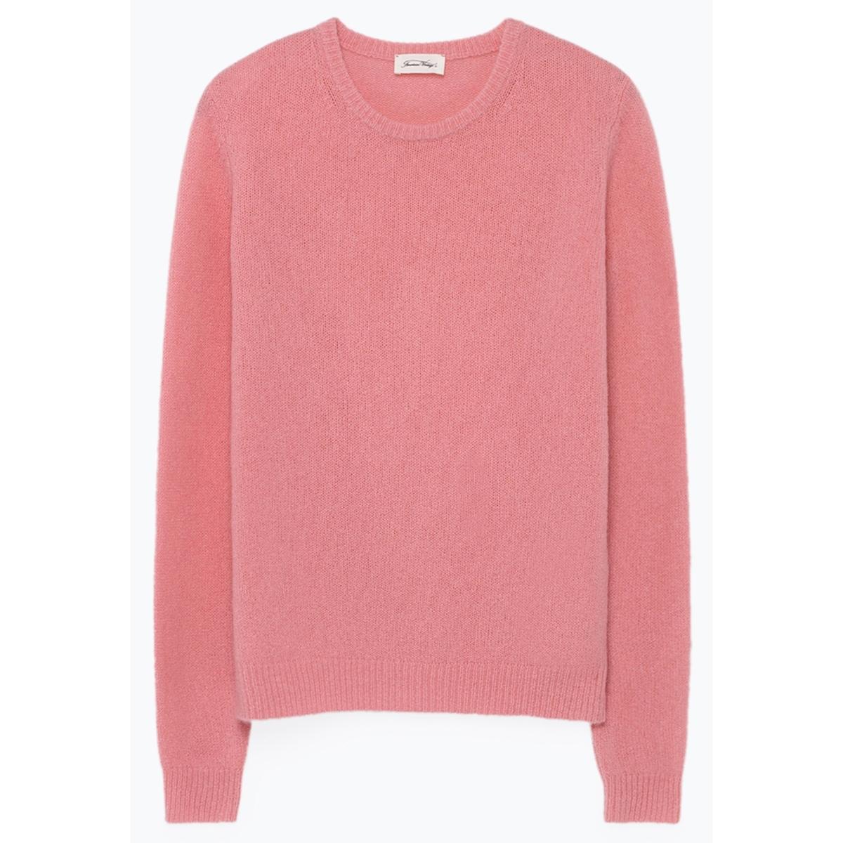 Пуловер La Redoute С круглым вырезом из тонкого трикотажа NANIBEACH S розовый ic men коричневый пуловер из кашемира