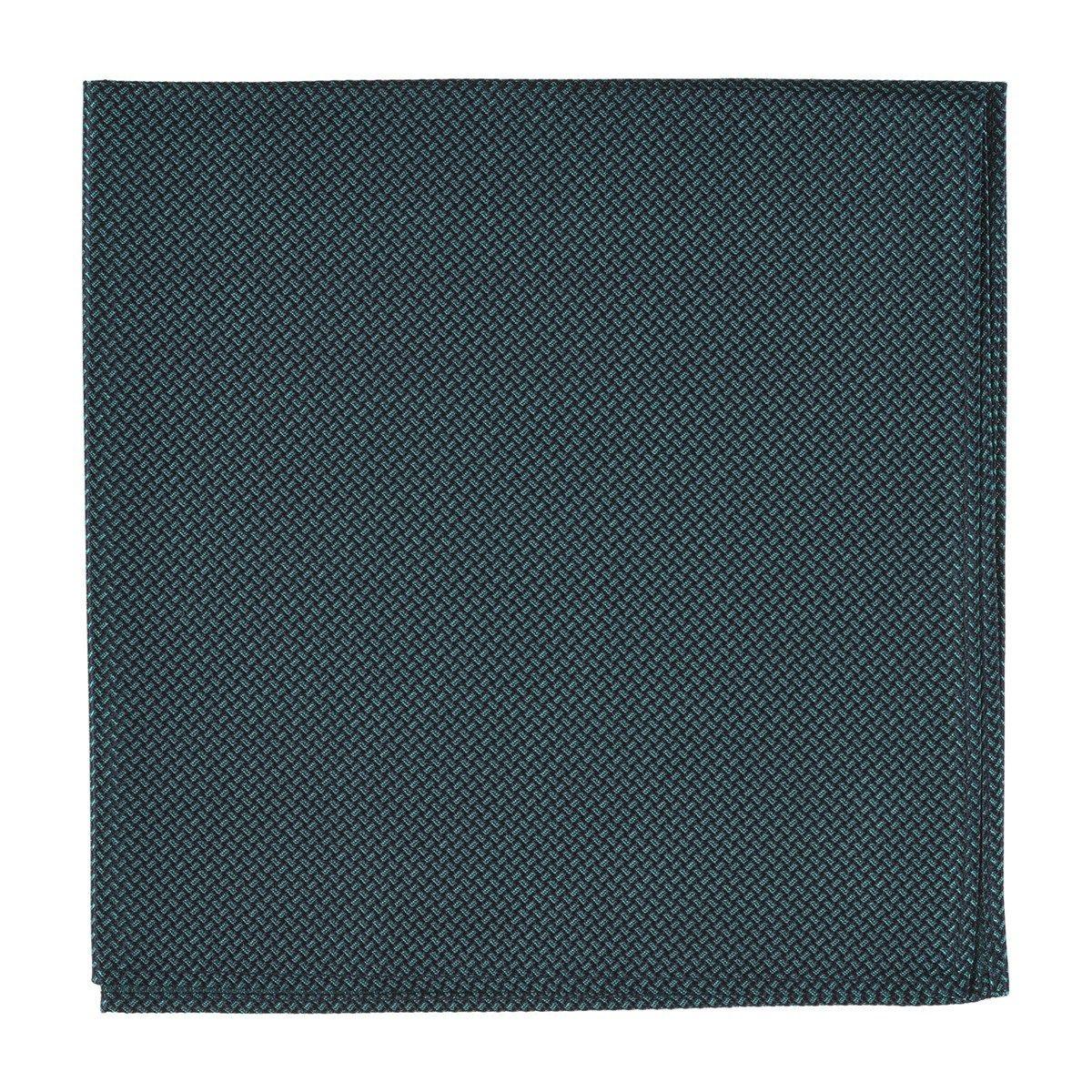 Pochette costume soie rectangle effet tissé