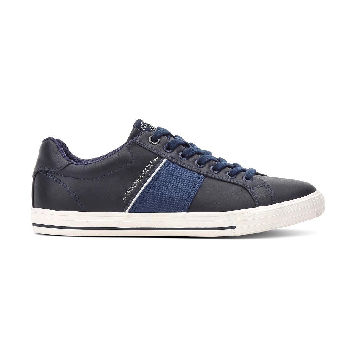 Кеды кожаные CoatПодкладка : ТекстильСтелька: Кожа   Подошва: Кожа    Форма каблука : Плоский каблук   Носок : КруглыйЗастежка : Шнуровка<br><br>Цвет: каштановый / синий,темно-синий/ синий<br>Размер: 43