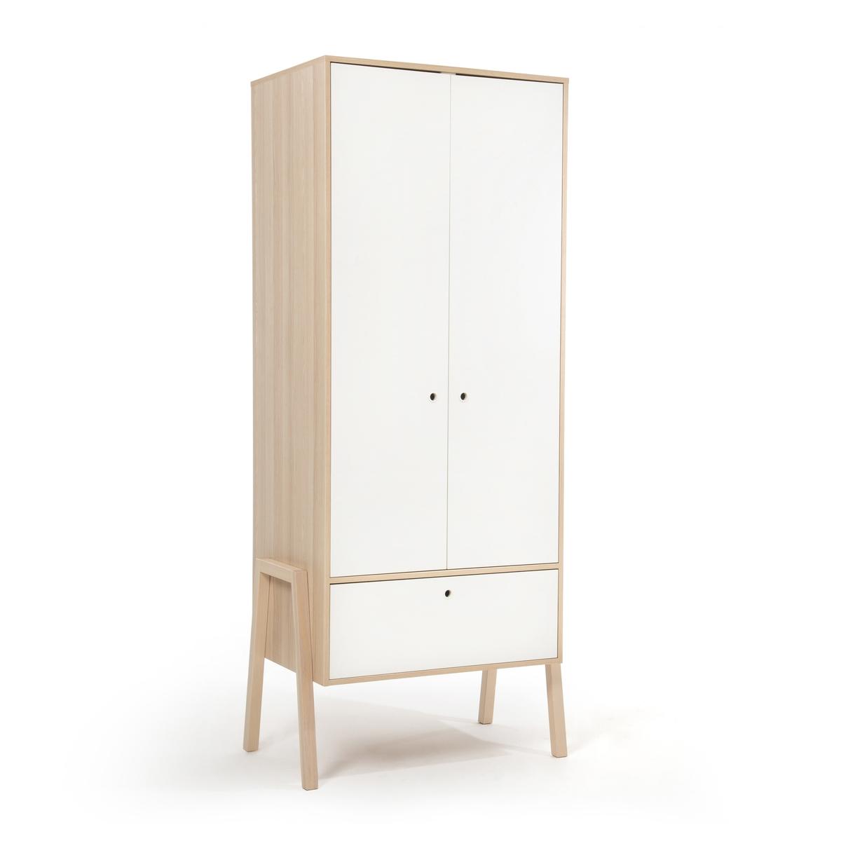 Шкаф LaRedoute С 2 дверцами и 1 ящиком Spot единый размер белый