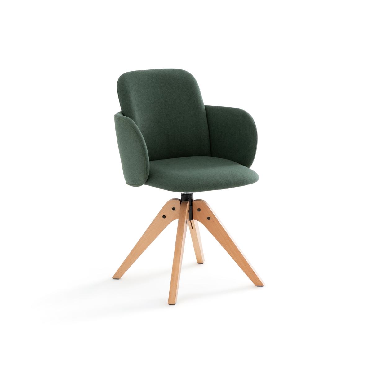 Кресло LaRedoute Офисное вращающееся Carina единый размер зеленый