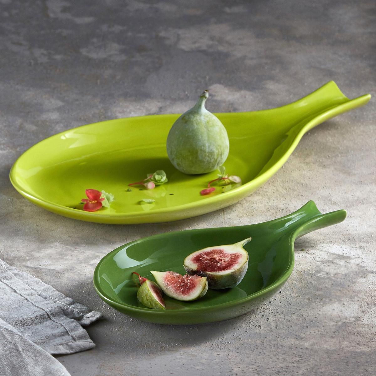 Блюдо в форме тыквы Makela, размер 1Блюдо Makela. Идеально для закусок! Из глазурованного фарфора. Подходит для посудомоечных машин. . : Д23 x В2,5 x Г15 см.<br><br>Цвет: зеленый