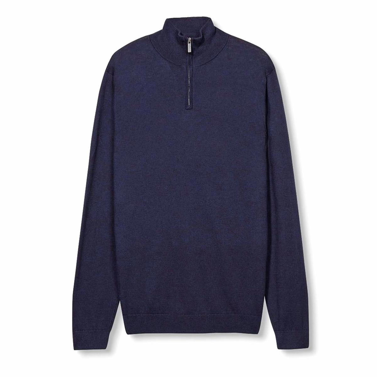 Пуловер из тонкого трикотажаСостав и описание :Материал : 90% хлопка, 10% шелка Марка : ESPRIT<br><br>Цвет: темно-синий