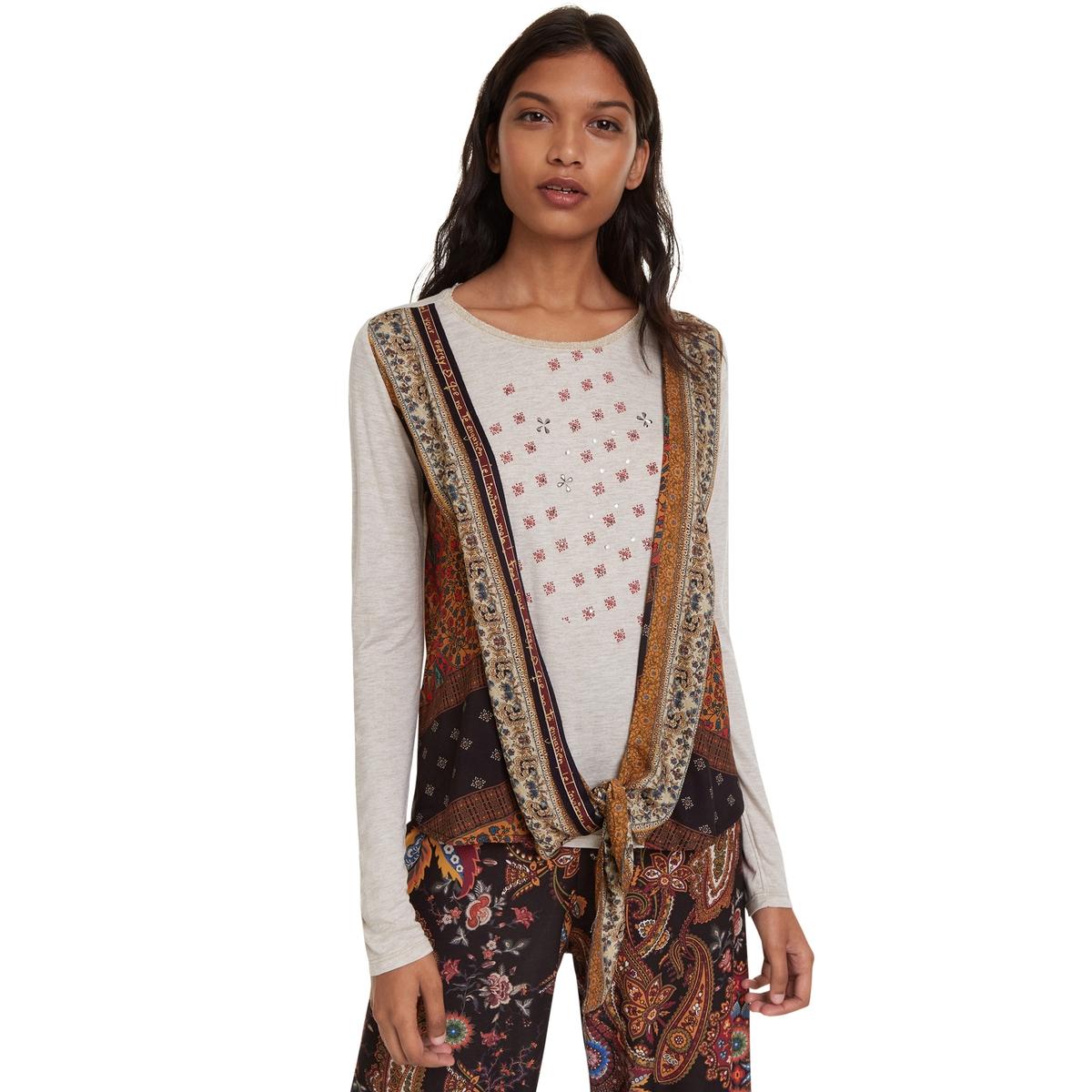 Camiseta Yan de manga larga con lacito fantasía en el bajo