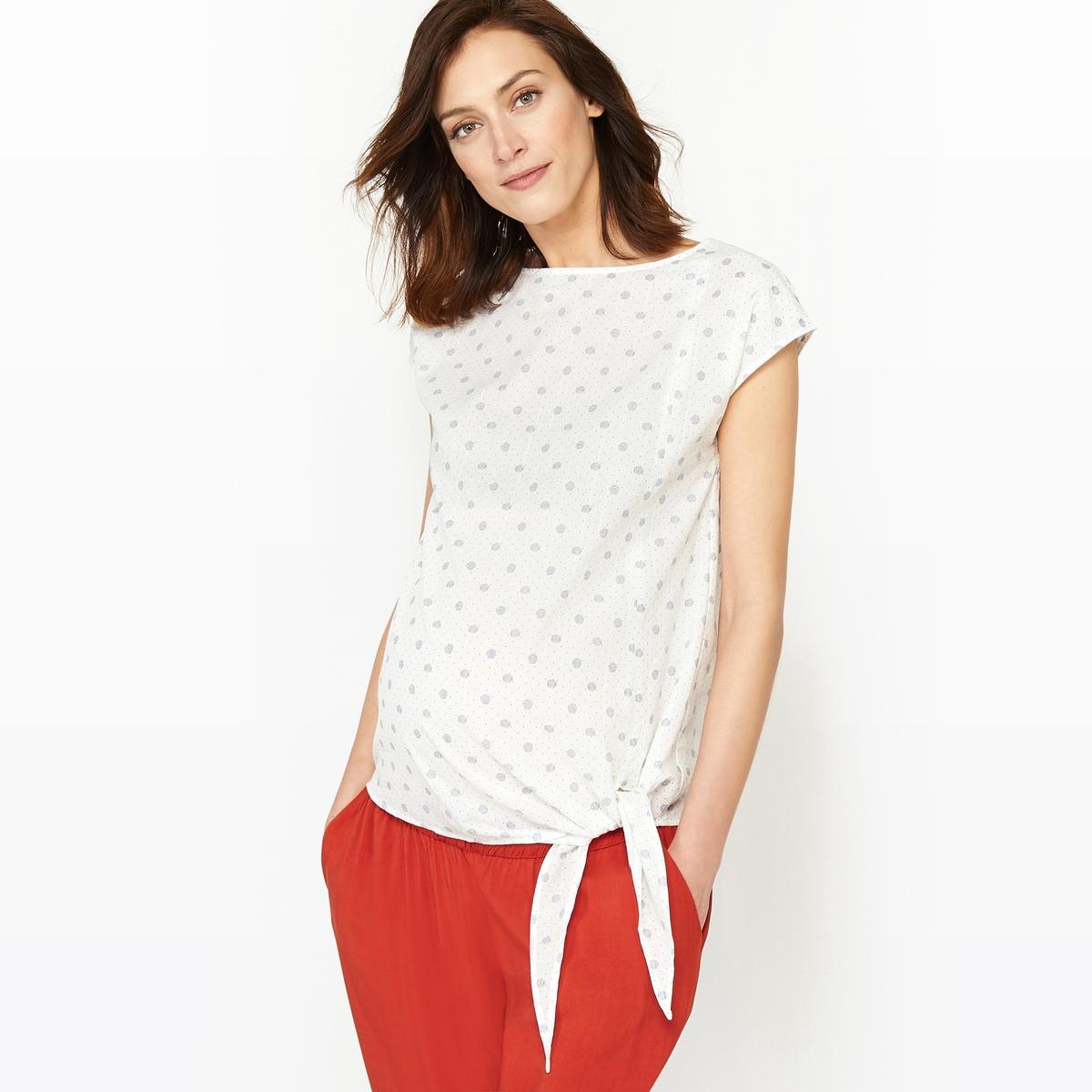 Блузка из хлопка для периода беременности