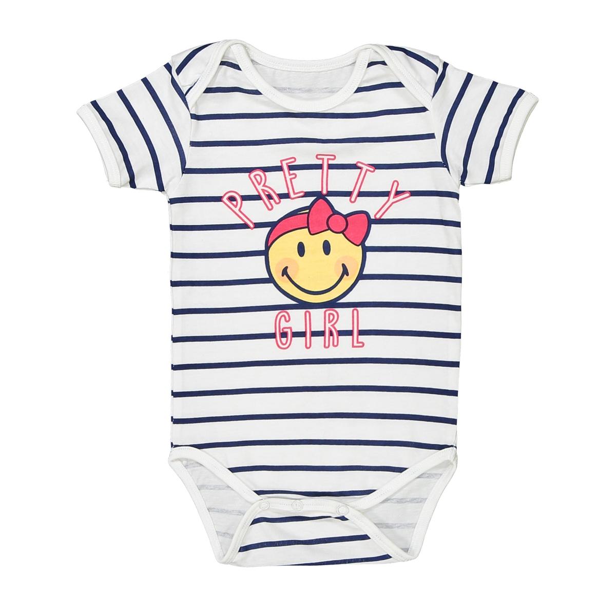 Боди для новорожденного из хлопка short smiley