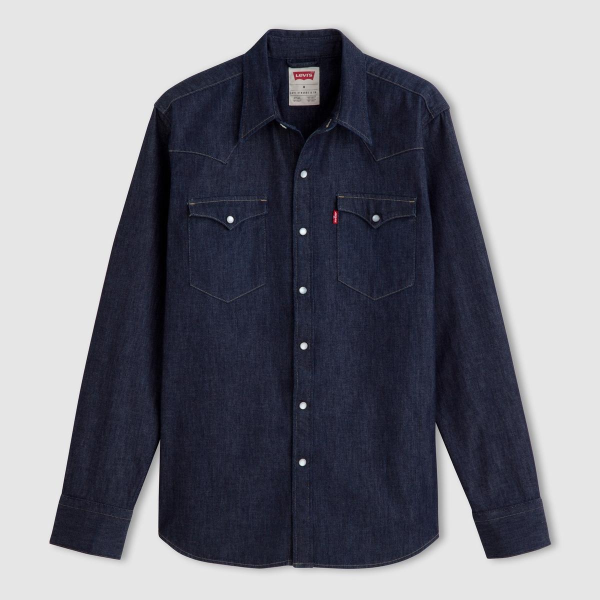 Camisa de tela vaquera de manga larga