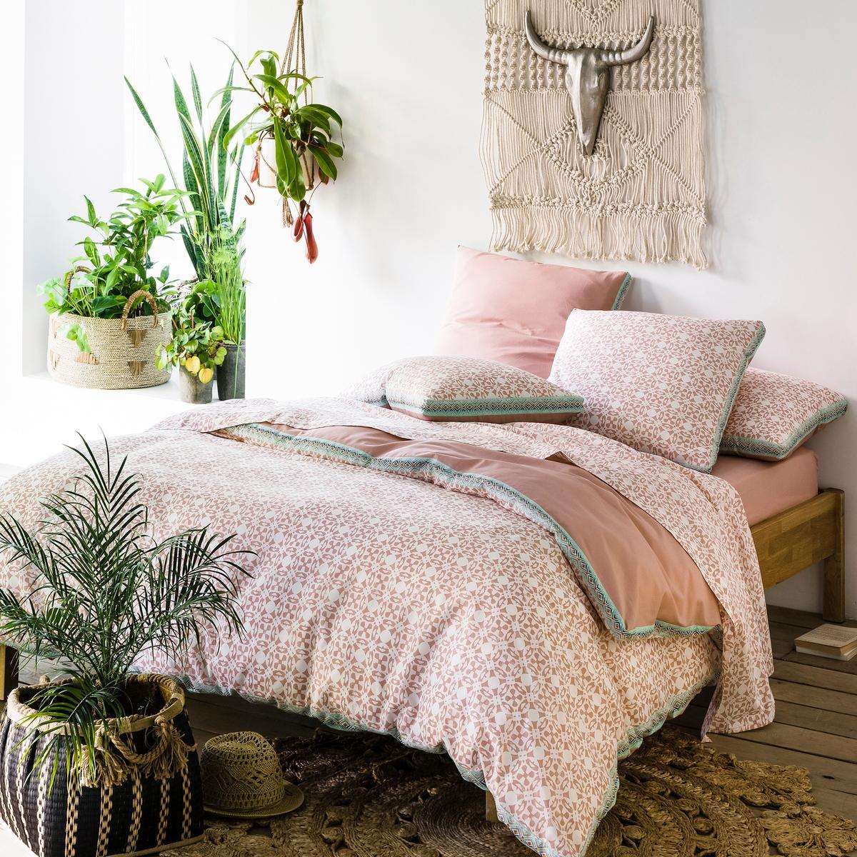 цена Пододеяльник La Redoute Из хлопка YUCATAN 260 x 240 см розовый онлайн в 2017 году