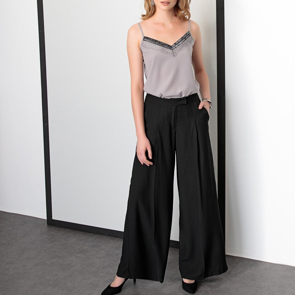 Imagen adicional 2 de producto de Pantalón urbano ancho de sarga stretch - Anne weyburn