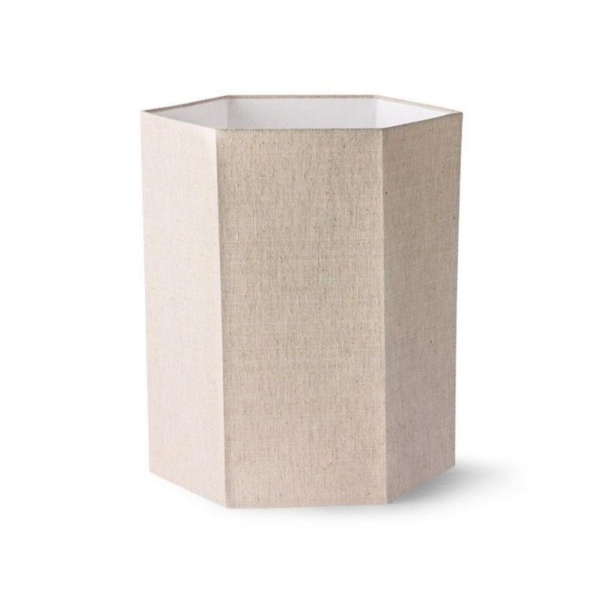 Abat-jour hexagonal pour lampe de table lin