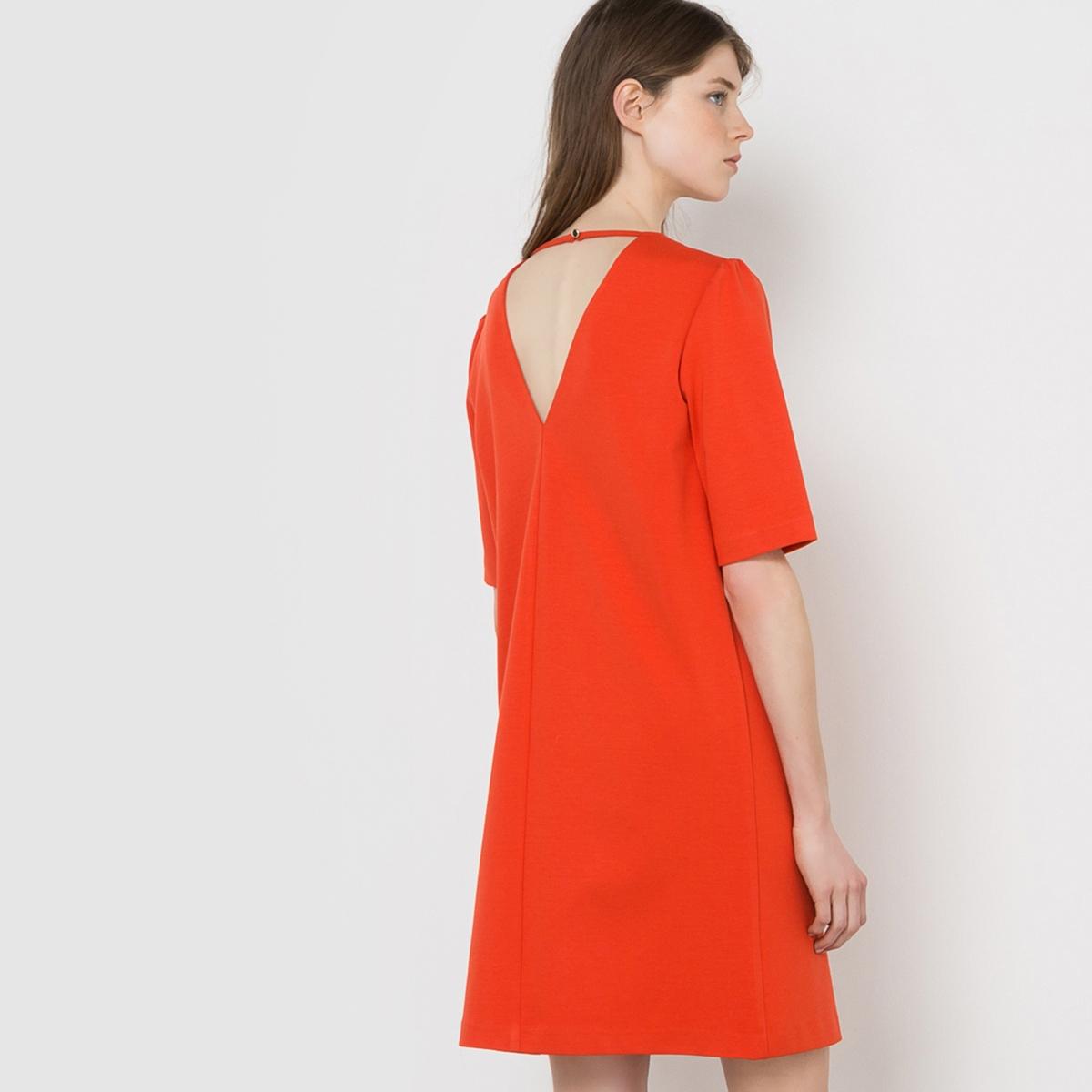 Платье трикотажное с декольте сзади платье mademoiselle r