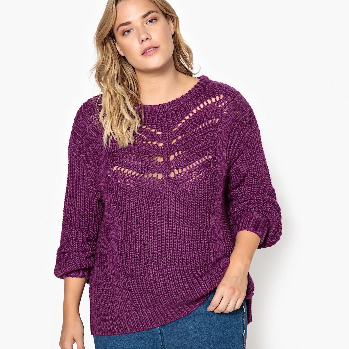 Пуловер из плотного трикотажа с круглым вырезом CASTALUNA