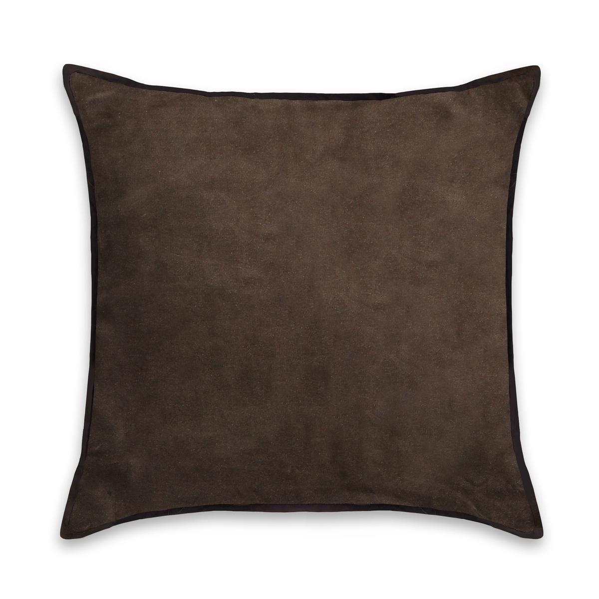 Чехол на подушку-валик из велюра, V?livole<br><br>Цвет: гранатовый,желтый горчичный,серо-коричневый,синий морской