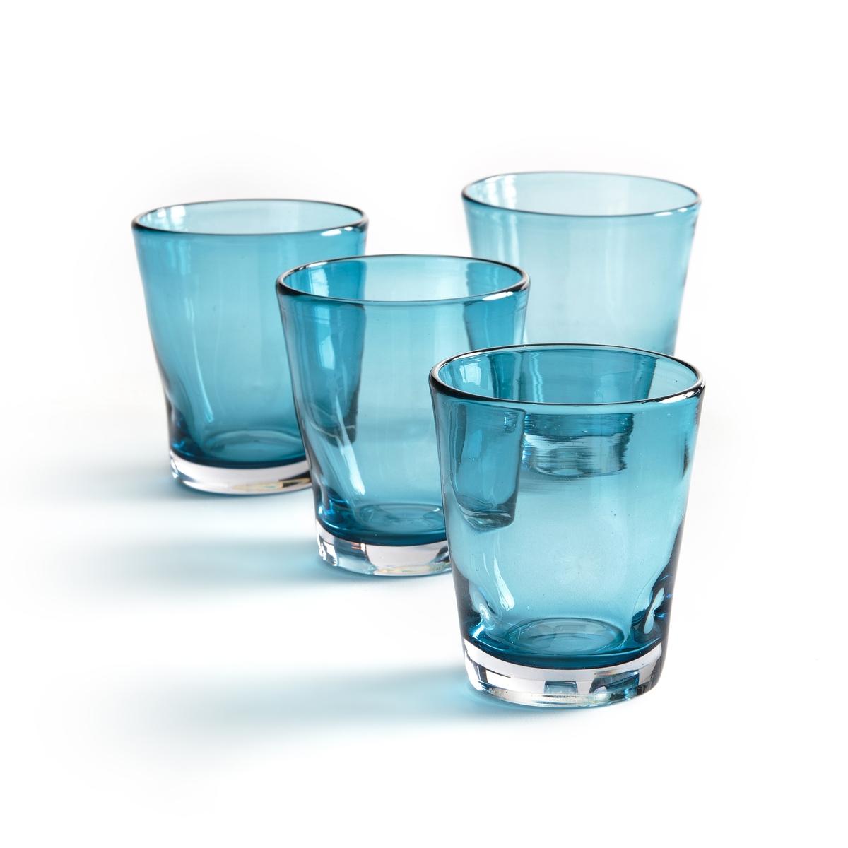 4 стакна для воды, Tawul4 стакна для воды Tawul . Красивая неоднородная форма . Ручная работа, каждое изделие уникально. Из прозрачного или синего стекла . Подходят для использования в посудомоечной машине. Размеры : ?8,5 x H9 см .<br><br>Цвет: прозрачный,синий