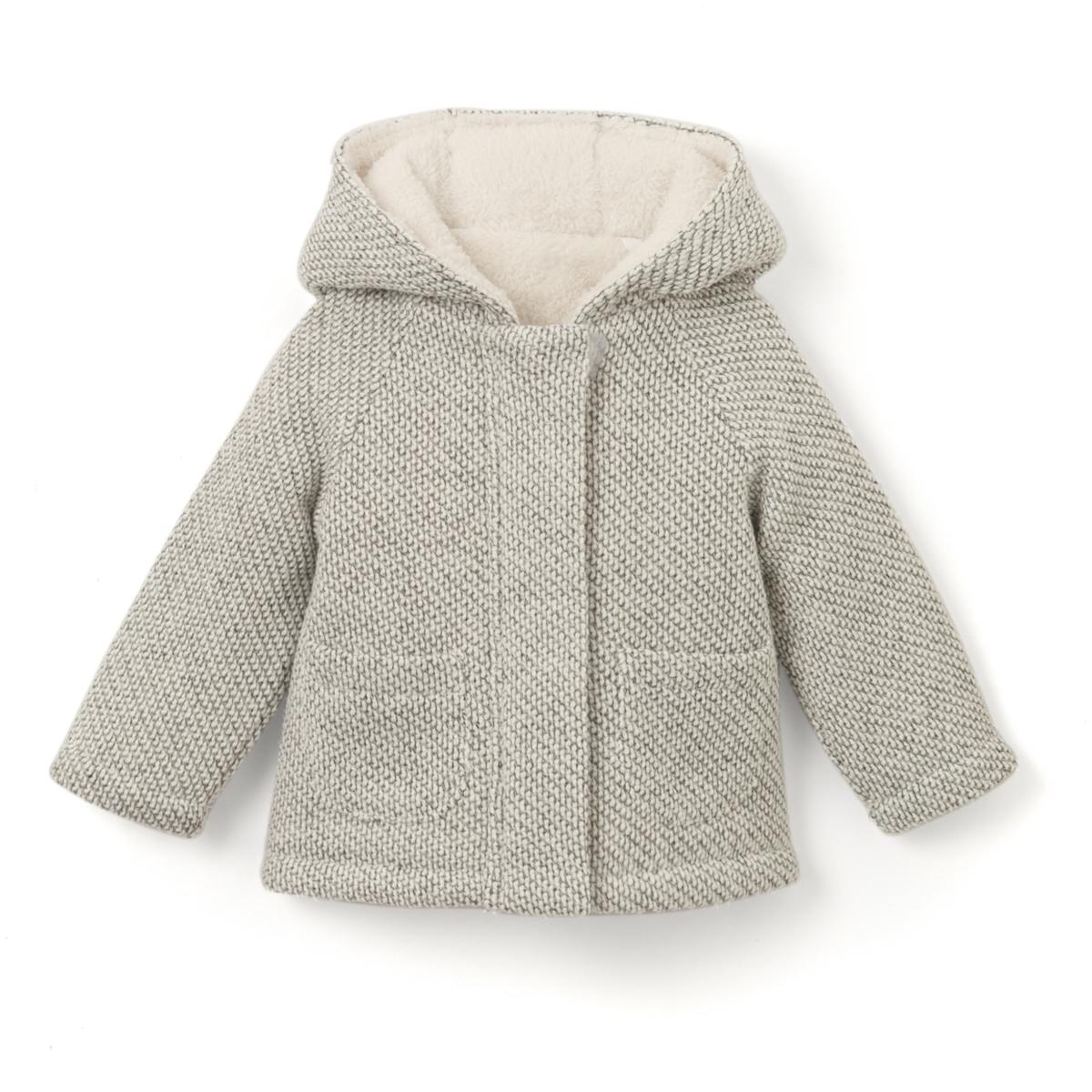 Пальто с капюшоном из хлопка