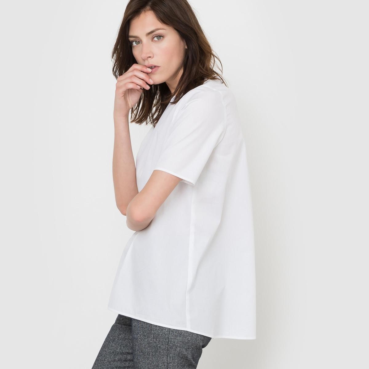 Блузка из хлопка с короткими рукавами