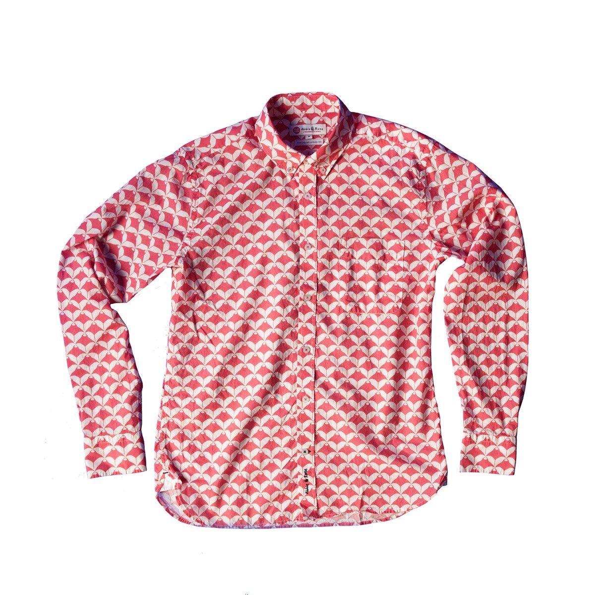 Chemise voile de coton col à pointes boutonnées