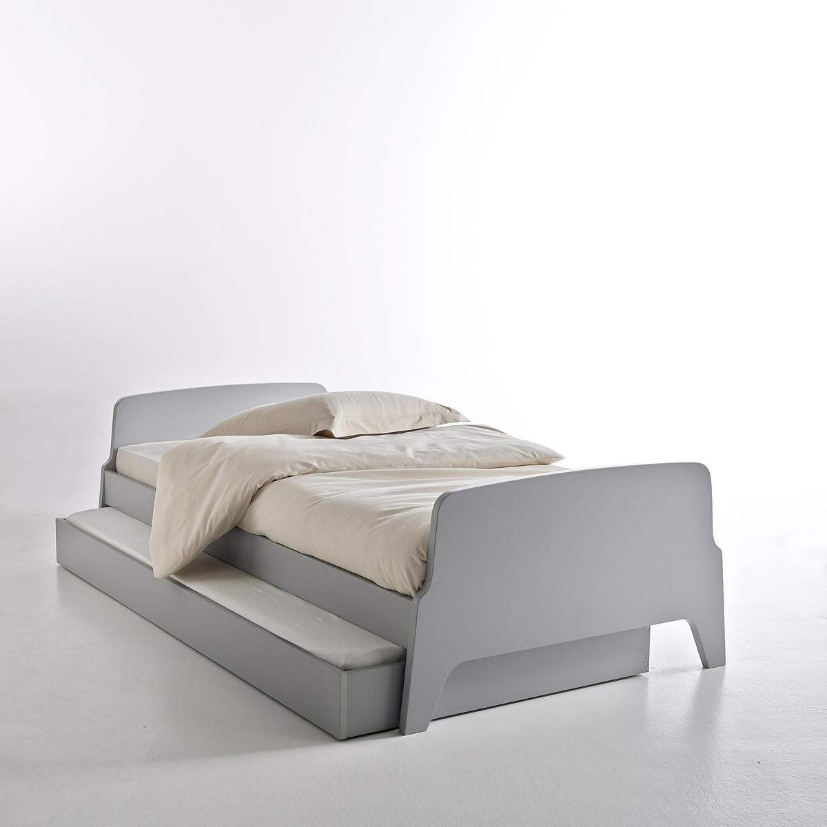 Кровать La Redoute -сп в винтажном стиле Adil 90 x 190 см серый кровать la redoute douv 140 x 190 см серый
