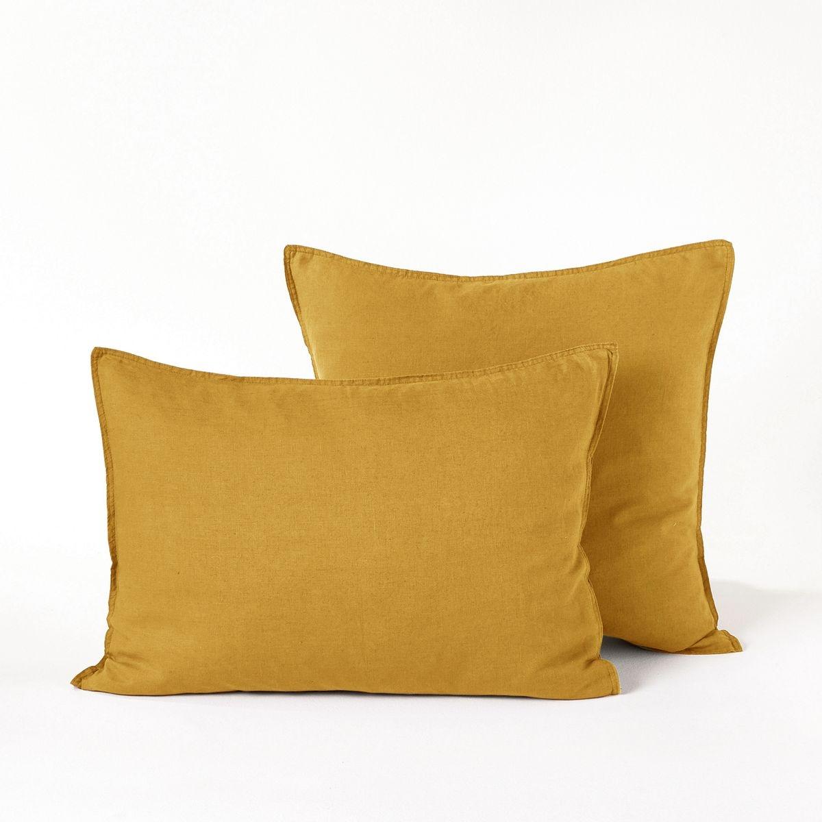 taie d 39 oreiller lin lav elina. Black Bedroom Furniture Sets. Home Design Ideas