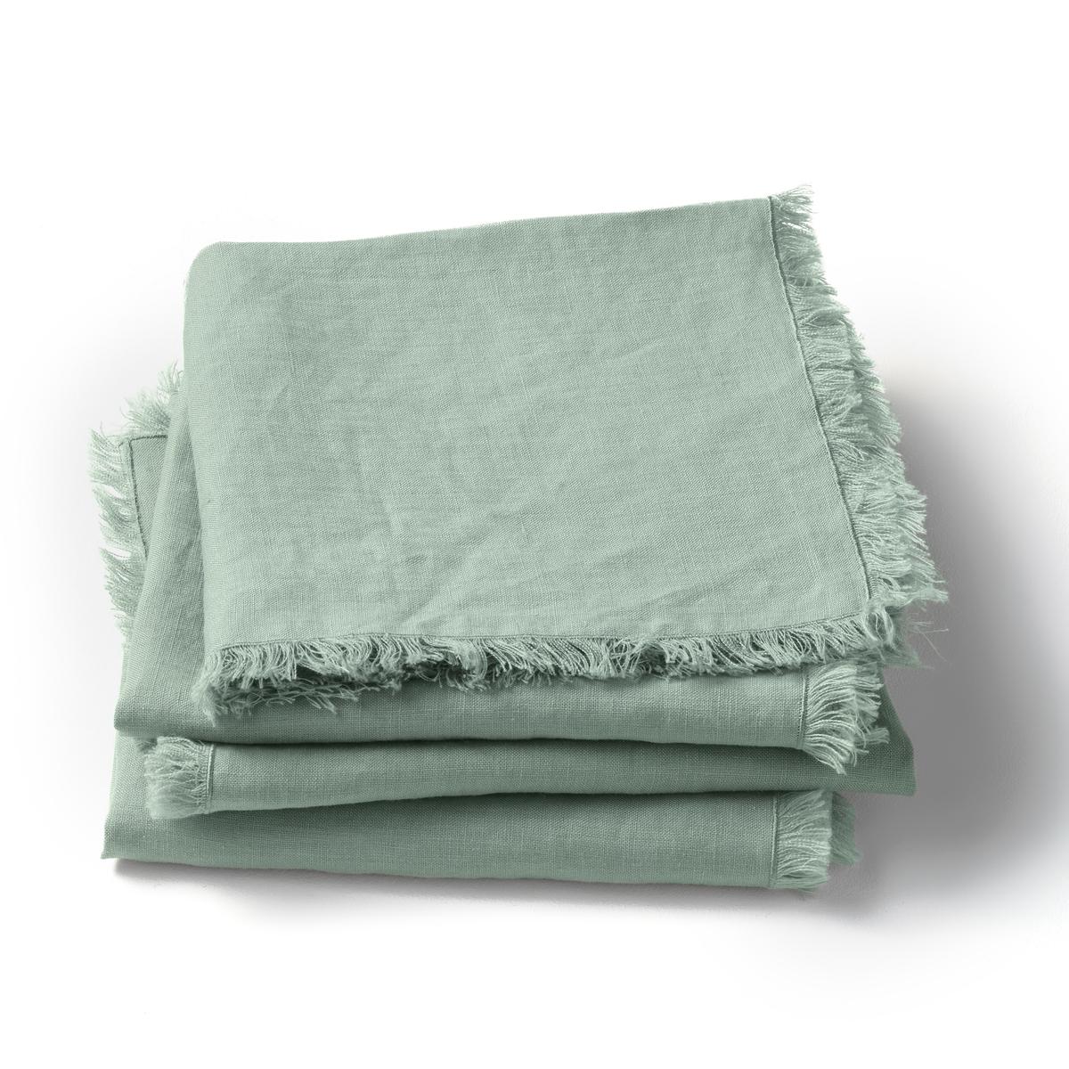 4 столовых салфетки из стиранного льна, Yastigi4 столовых салфетки Yastigi . Они сочетают натуральную мягкость стиранного льна и изысканность отделки бахромой .Материал :- 100% стираный лен Отделка :- Бахрома с 4 сторон .Размеры :- 40 x 40 см<br><br>Цвет: белый,бледно-розовый,зеленый шалфей,серо-бежевый,серый<br>Размер: комплект из 4