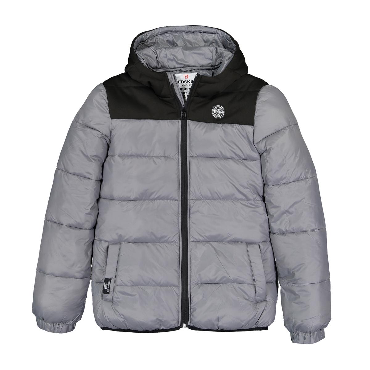 Куртка La Redoute Стеганая с капюшоном 12 лет -150 см серый пижама la redoute с надписью 12 лет 150 см серый
