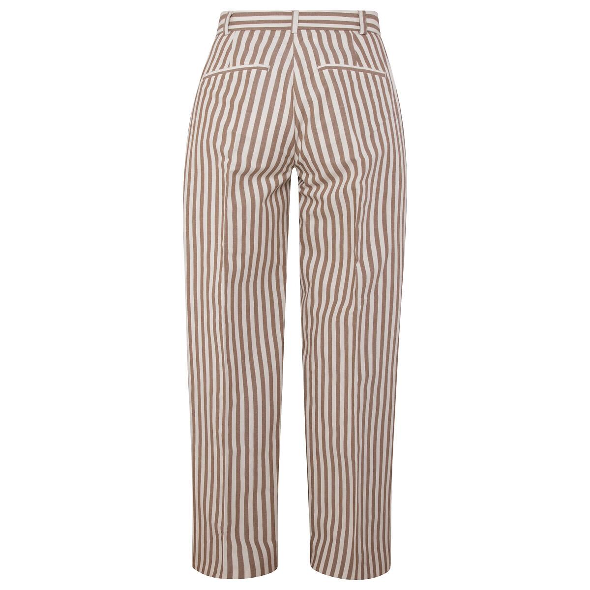 Pantalón ancho a rayas, de talle alto