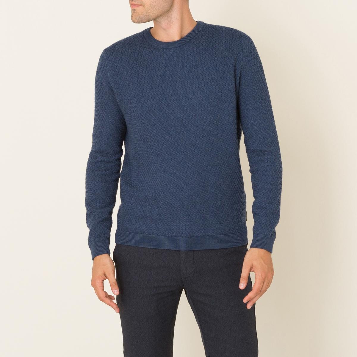 Пуловер SALVIANOПуловер HARRIS WILSON - модель SALVIANO. Оригинальный рельефный трикотаж. Круглый вырез. Длинные рукава. Края рукавов и низа связаны в рубчик. Состав и описание Материал : 70% хлопка, 30% шерстиМарка : HARRIS WILSON<br><br>Цвет: синий