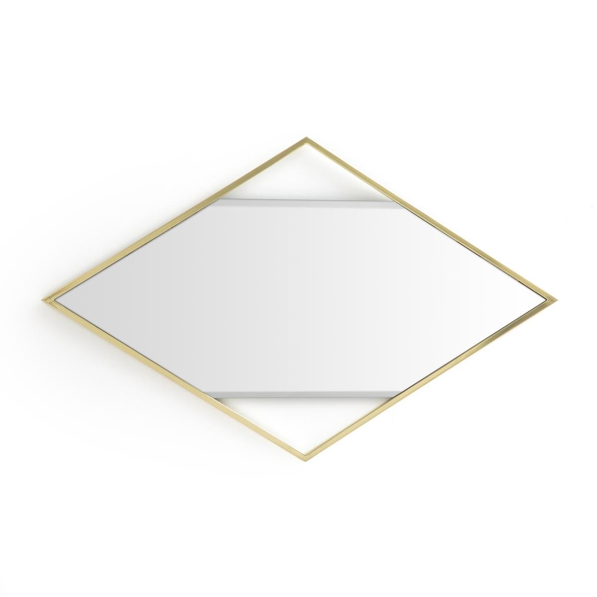 Зеркало в форме ромба из латуни REFLET