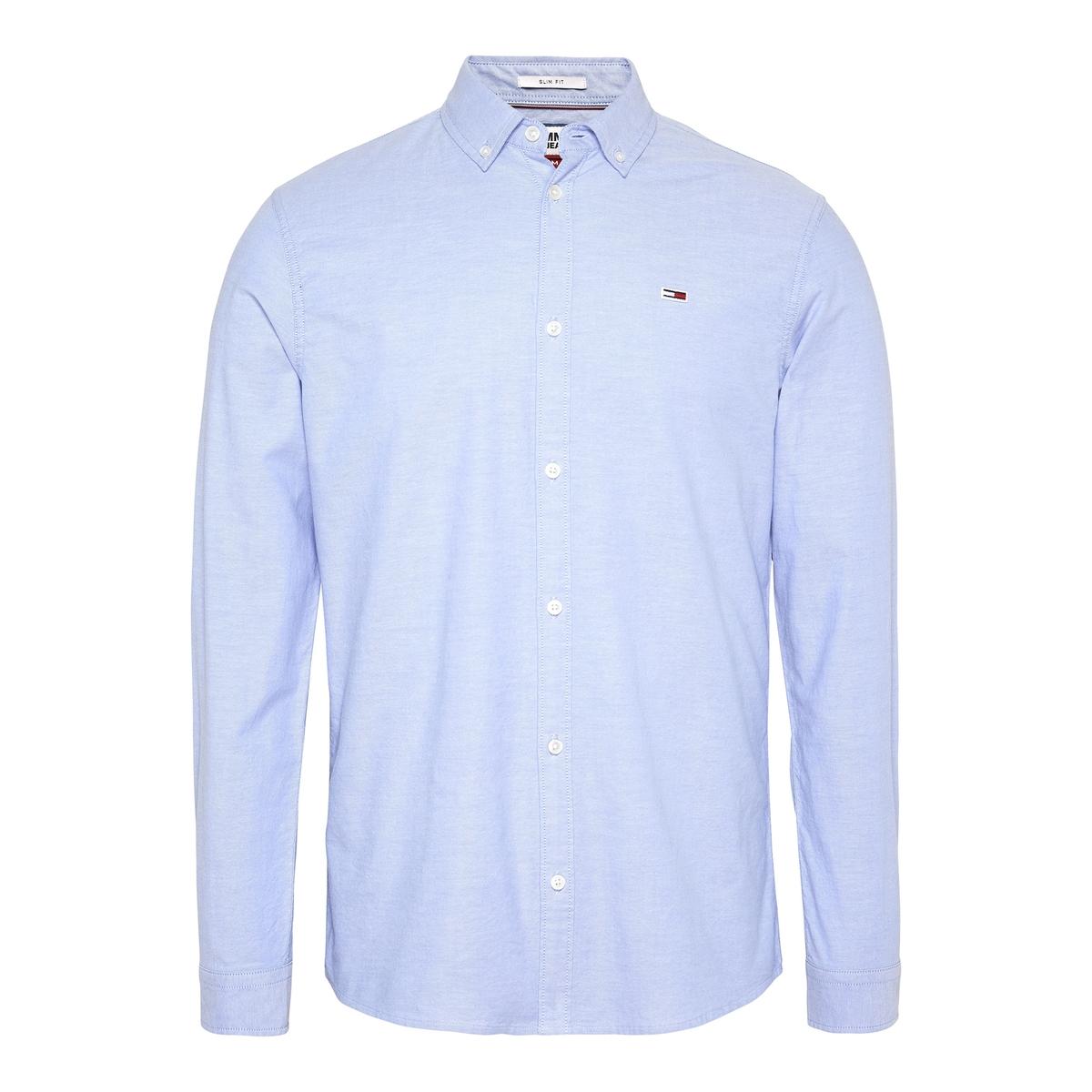Camisa corte slim stretch, em Oxford