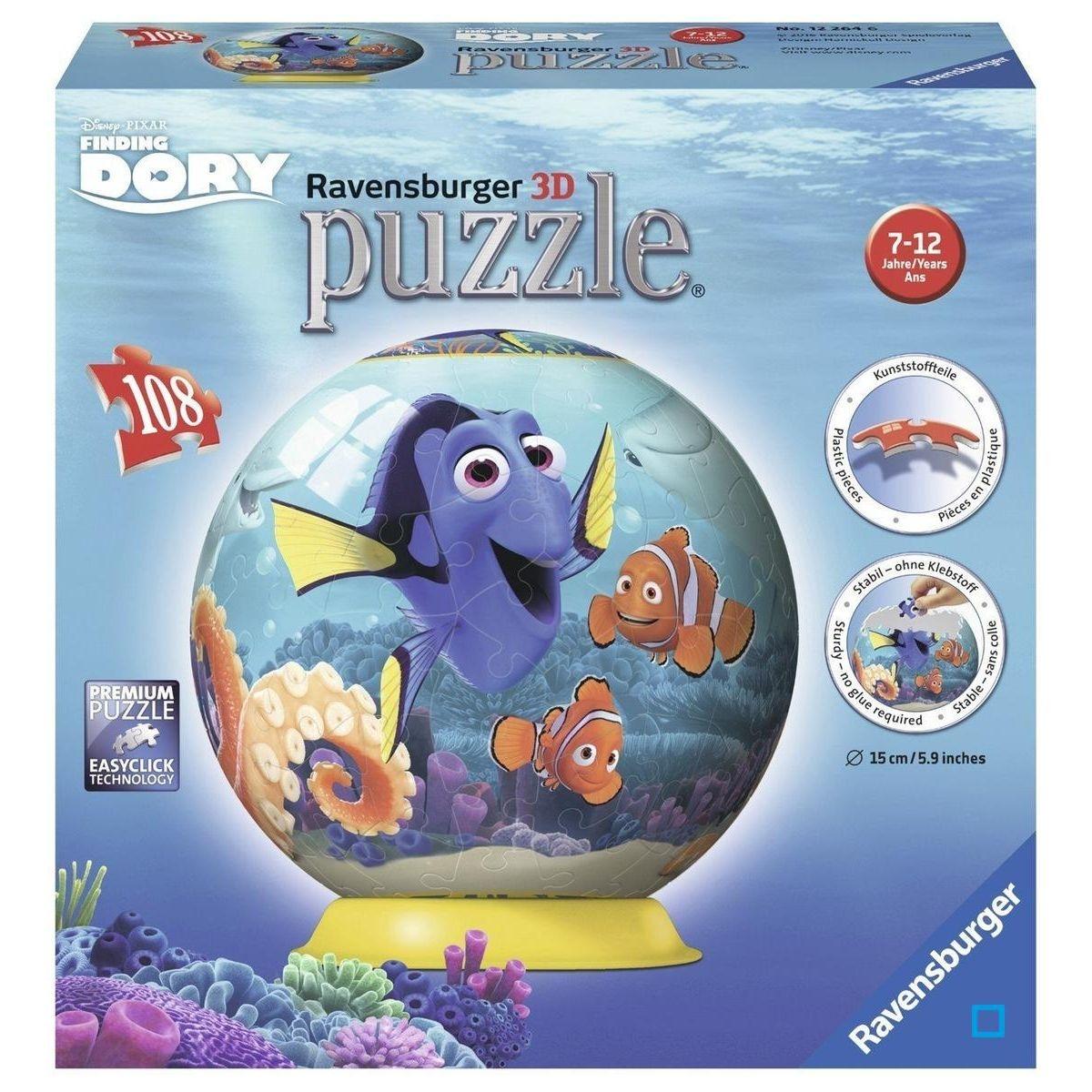 Le Monde de Dory - Puzzle 3D 108 pièces - RAV12264