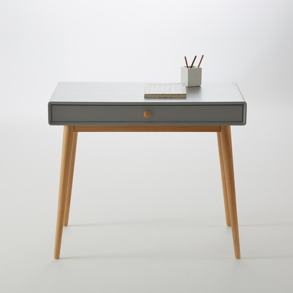 Стол La Redoute Письменный с ящиком JIMI единый размер серый