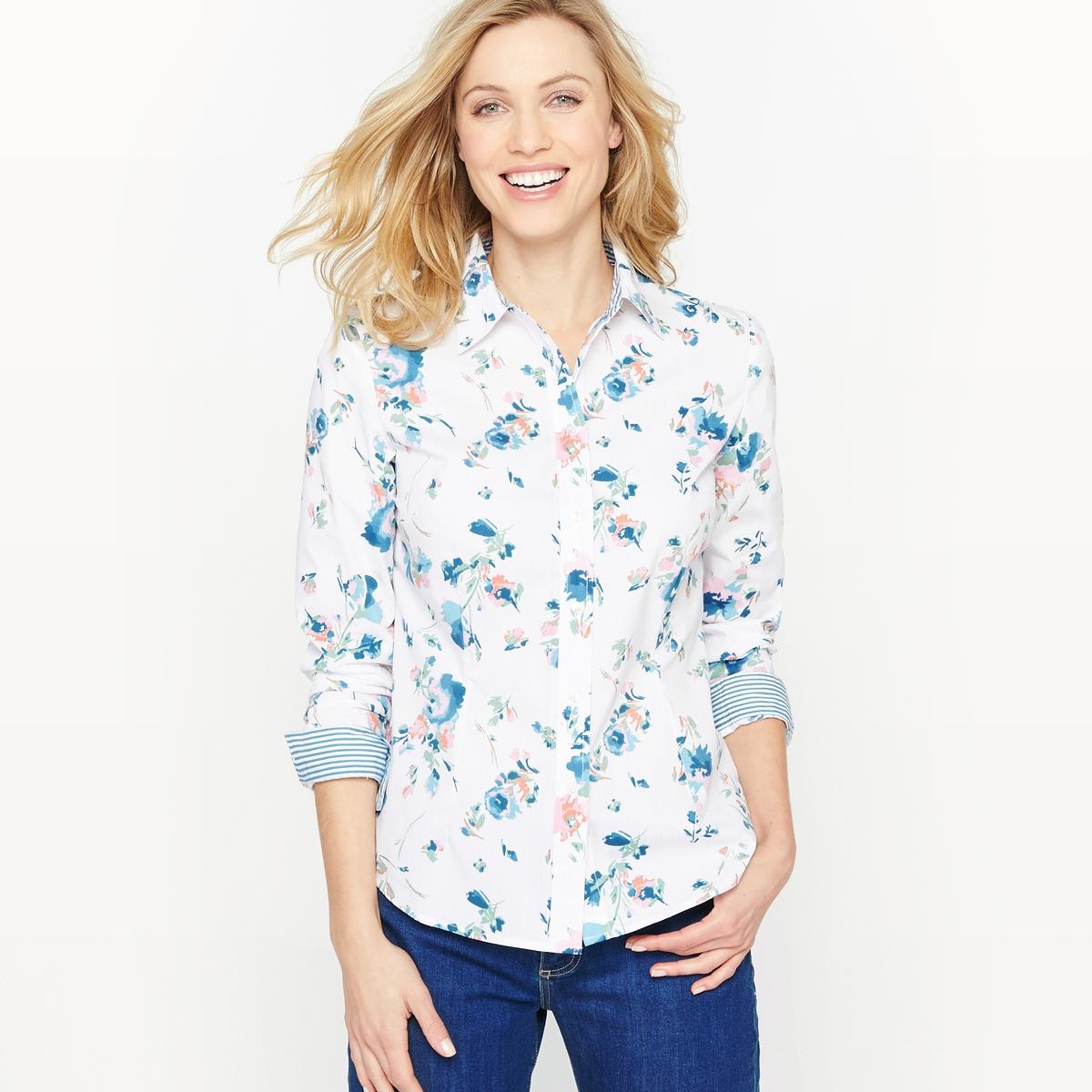 Рубашка с цветочным рисунком