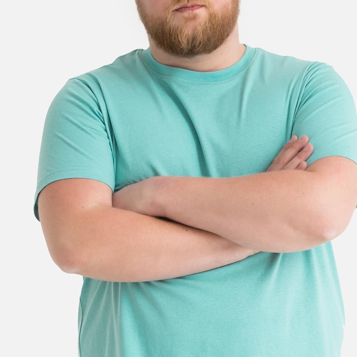 T-shirt de gola redonda, mangas curtas, tamanho grande
