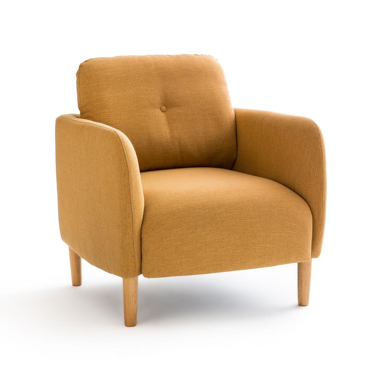 Кресло LaRedoute Скандинавское Jimi единый размер желтый