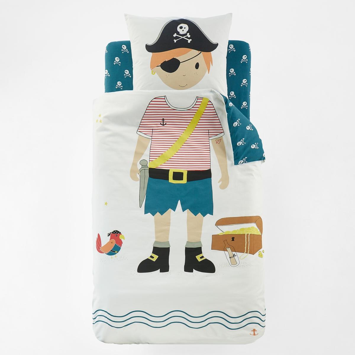 Пододеяльник с принтом JACKОписание:Пододеяльник с принтом, JACK . Какой ребёнок не мечтал хотя бы раз побыть пиратом южных морей? В это постельное белье нельзя не влюбиться !Характеристики пододеяльника JACK :Клапан для заправки под матрас.Лицевая сторона с рисунком « пират » на белом фоне, оборотная сторона - с мелким принтом черепа на зеленом фоне .100% хлопок, 57 нитей/см? ( чем больше нитей /см?, тем качественнее ткань) .Легкость ухода.Машинная стирка при 60 °С.Если вы хотите составить пирата Джека целиком, найдите весь комплект JACK на нашем сайте laredoute.ruЗнак Oeko-Tex® гарантирует, что товары прошли проверку и были изготовлены без применения вредных для здоровья человека веществ.Размеры :  140 x 200 см : 1-спальный<br><br>Цвет: рисунок разноцветный<br>Размер: 140 x 200  см