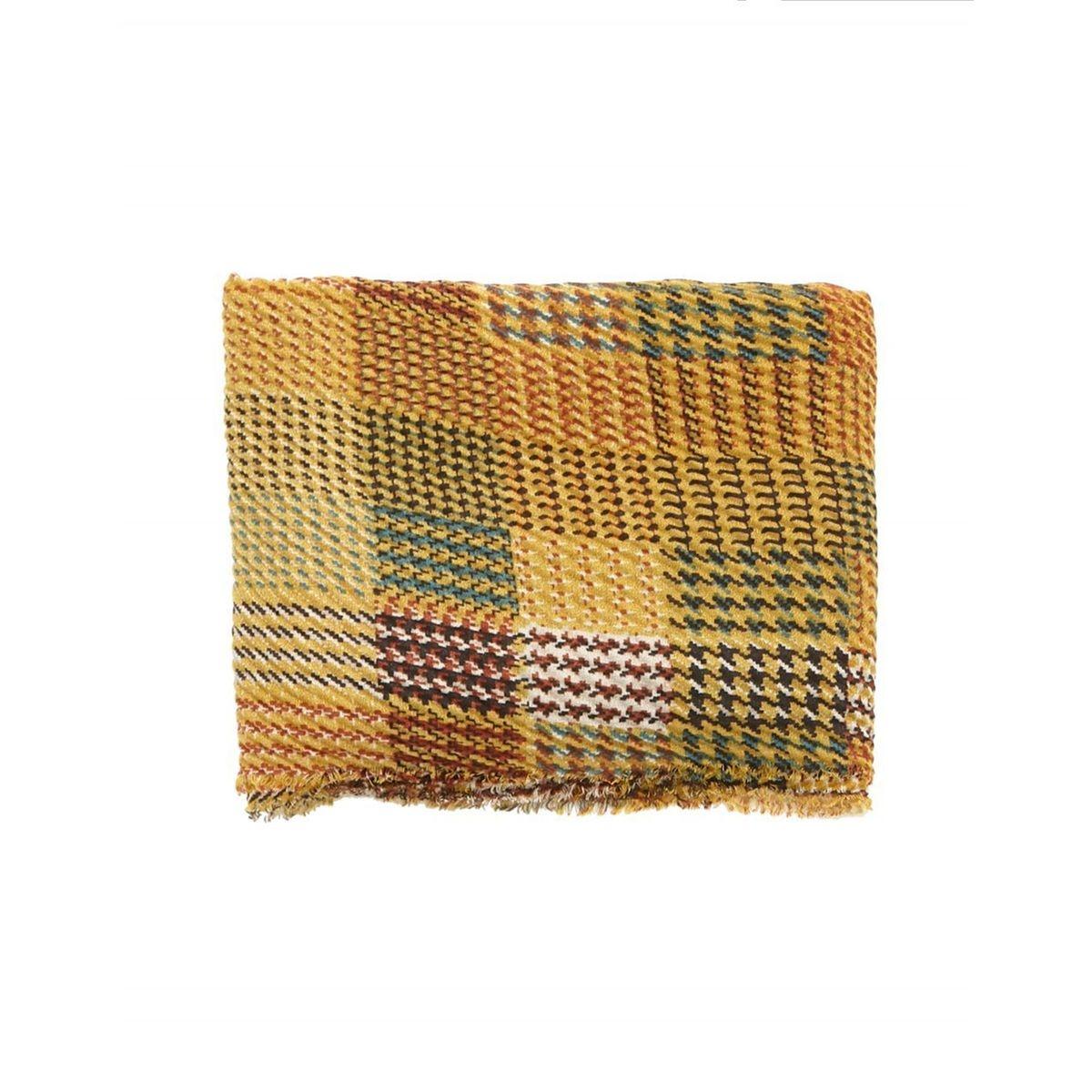 Foulard long à carreaux