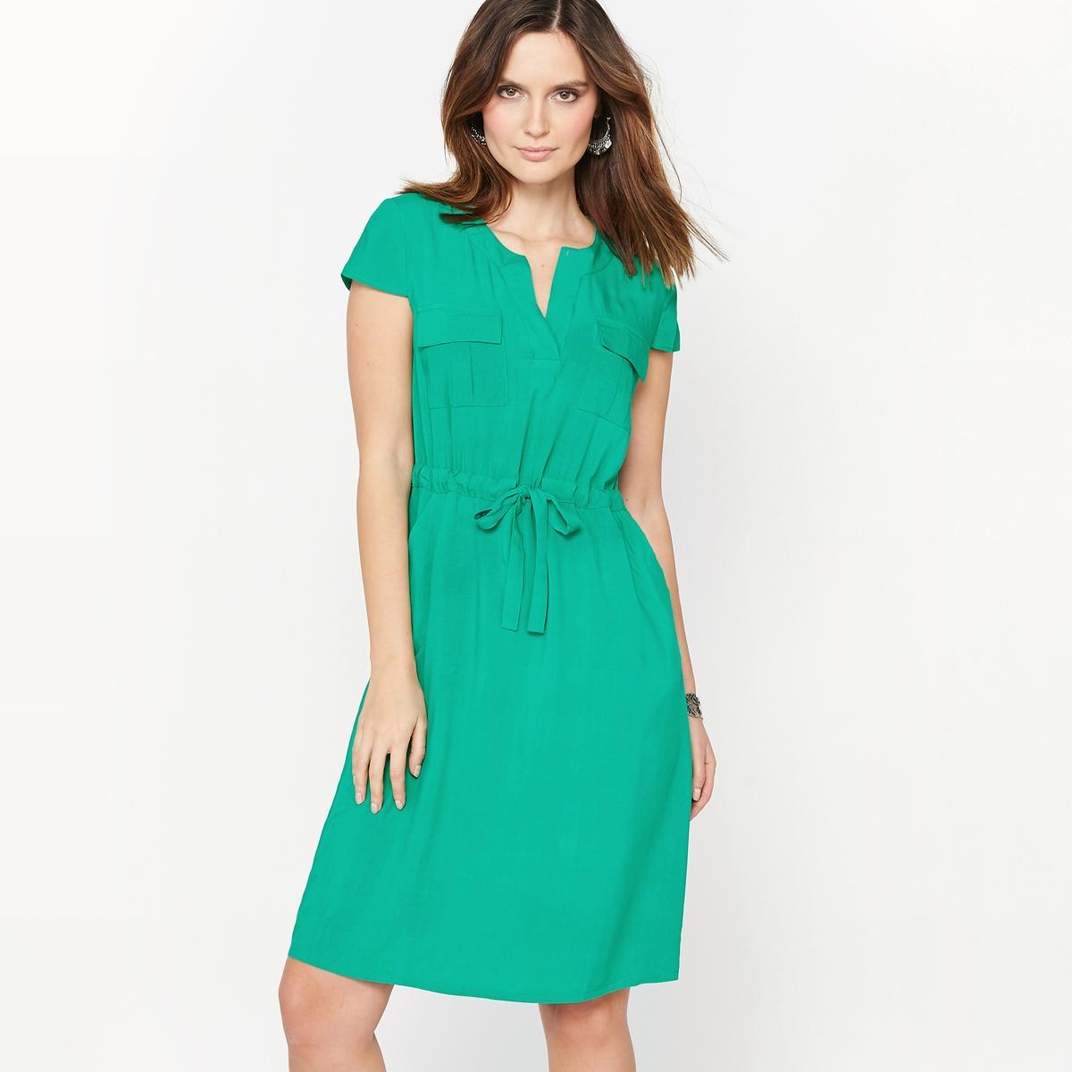 Платье из струящейся ткани футболка в полоску из струящейся ткани
