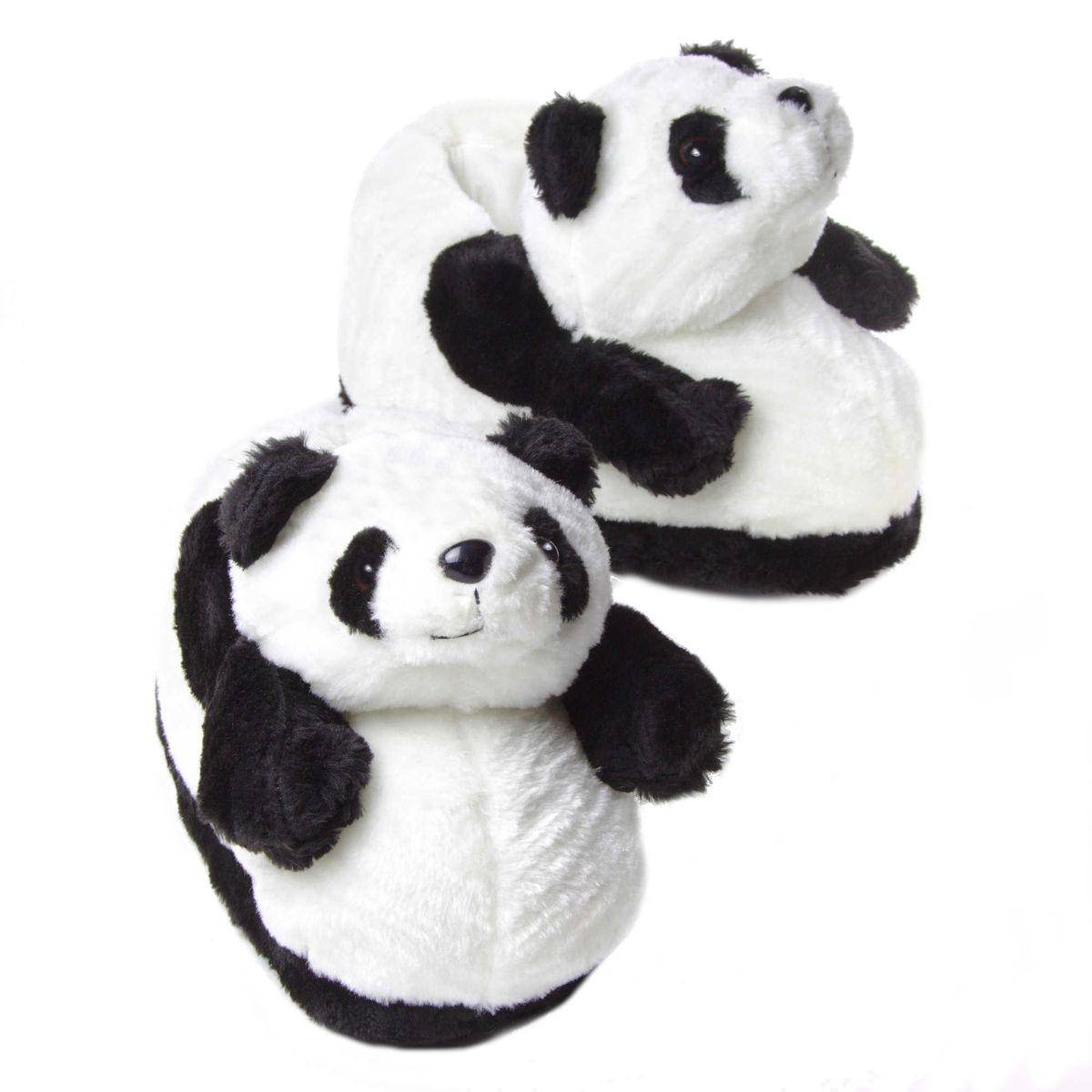 Chaussons animaux peluche Panda