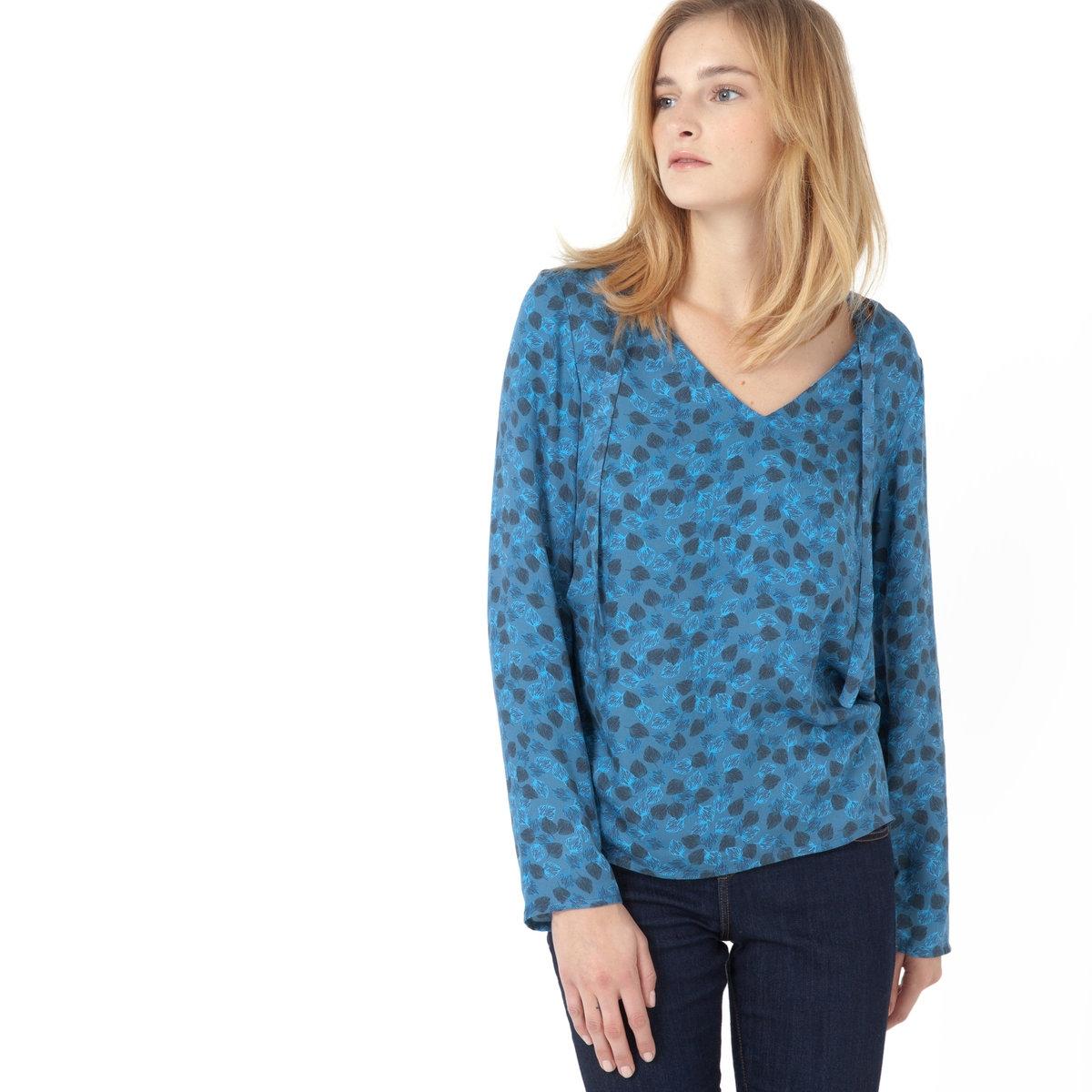 Блузка с рисунком с длинными рукавами цены онлайн