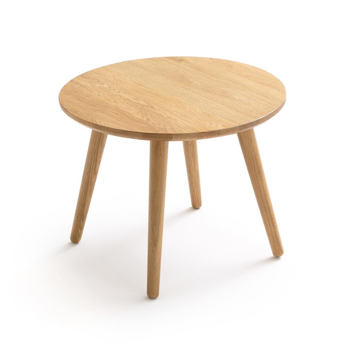 Стол журнальный круглый из массива дуба CRUESO столик журнальный квадратный из массива дуба crueso