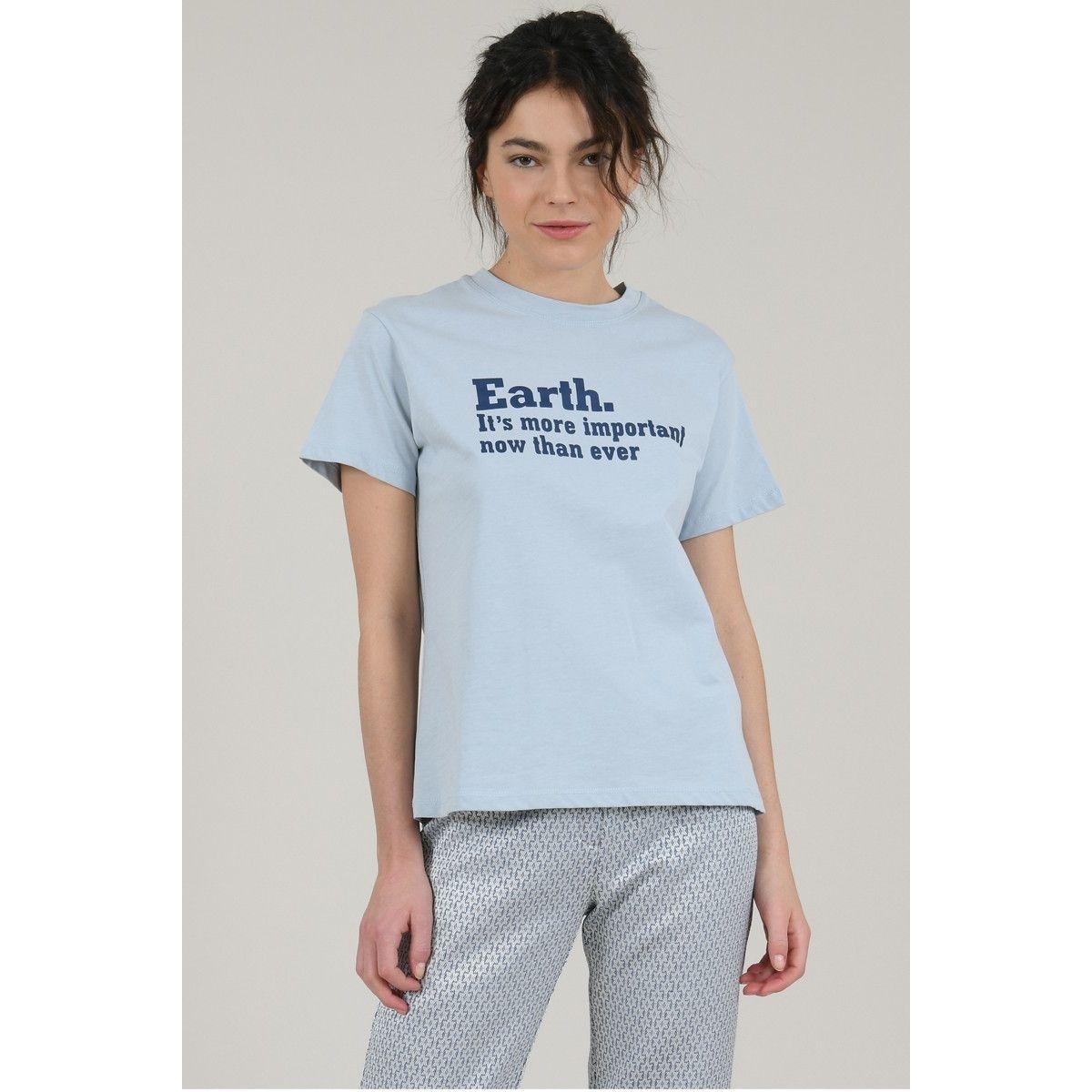 T-shirt imprimé 'Earth'