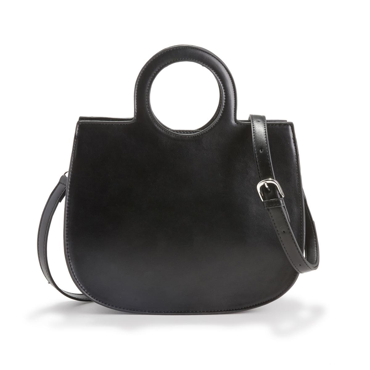Сумка La Redoute С круглыми ручками единый размер черный сумка la redoute из ткани с блестками h единый размер черный