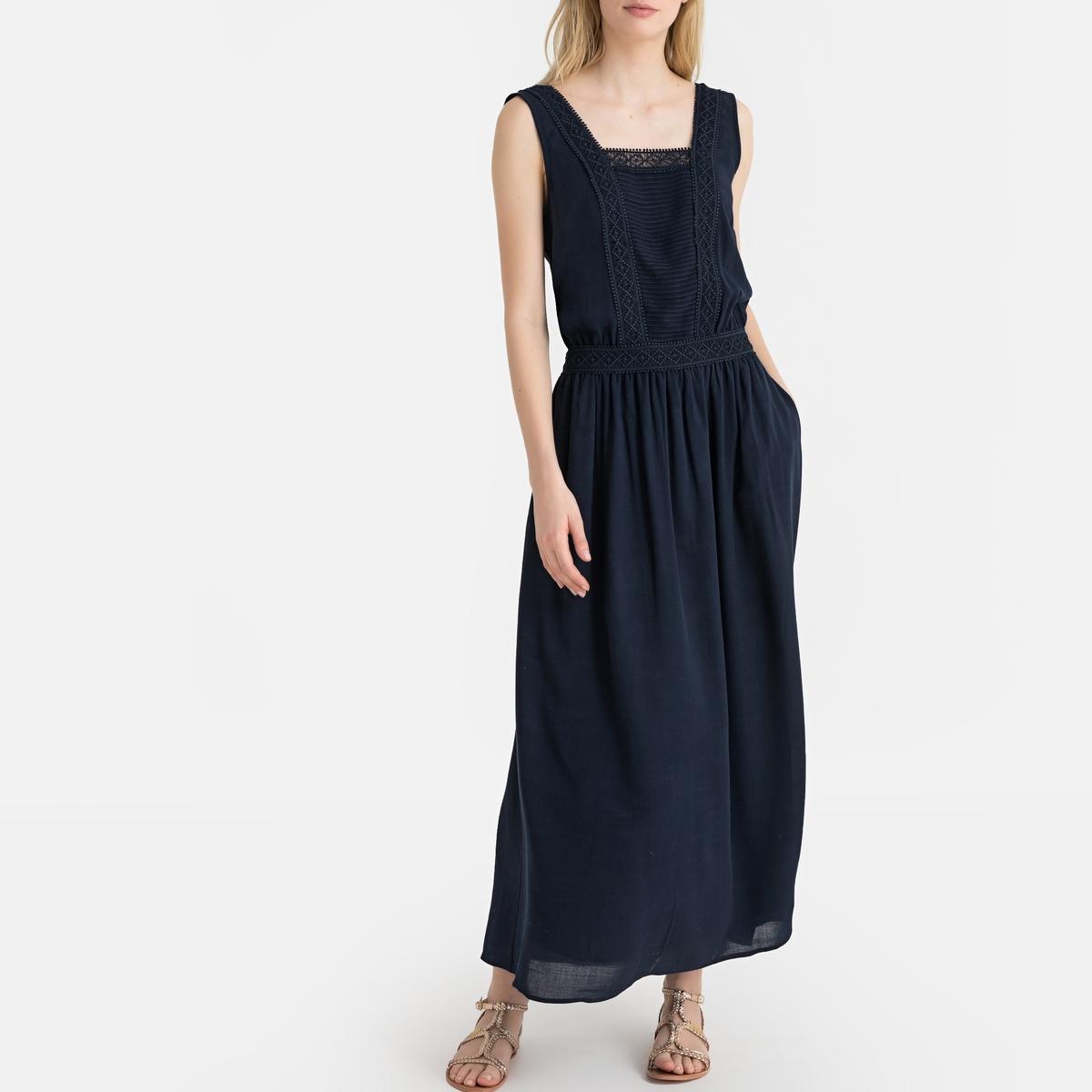 Платье La Redoute Свадебное длинное 40 (FR) - 46 (RUS) синий свадебное платье vnaix w167