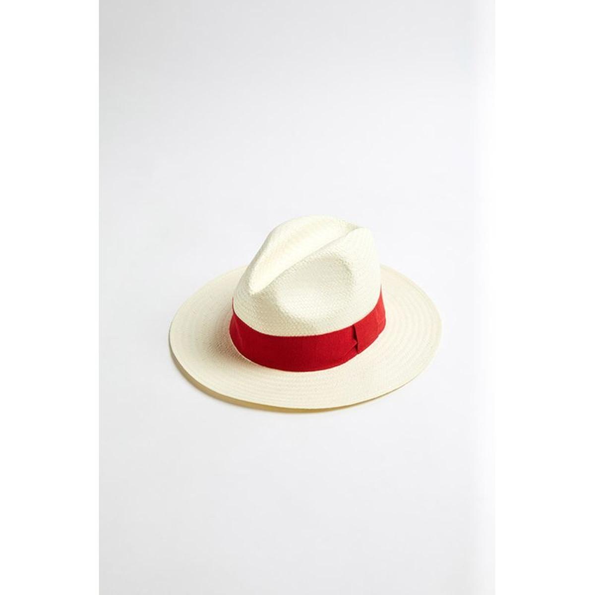 Chapeau de plage Panama Rouge