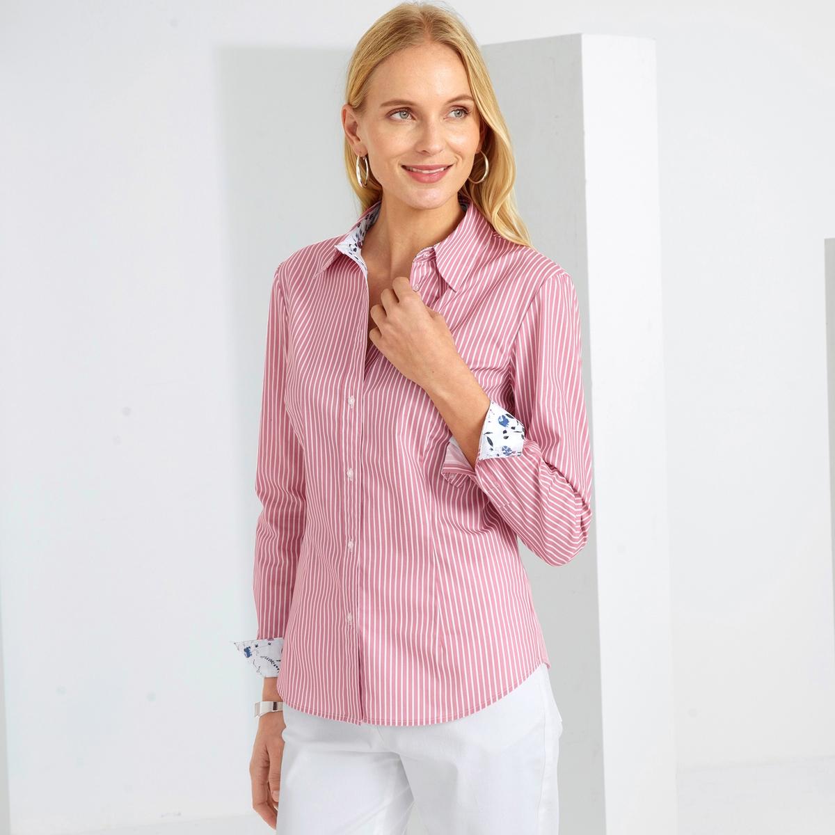 Imagen principal de producto de Camisa a rayas de tejido tintado, popelina stretch - Anne weyburn