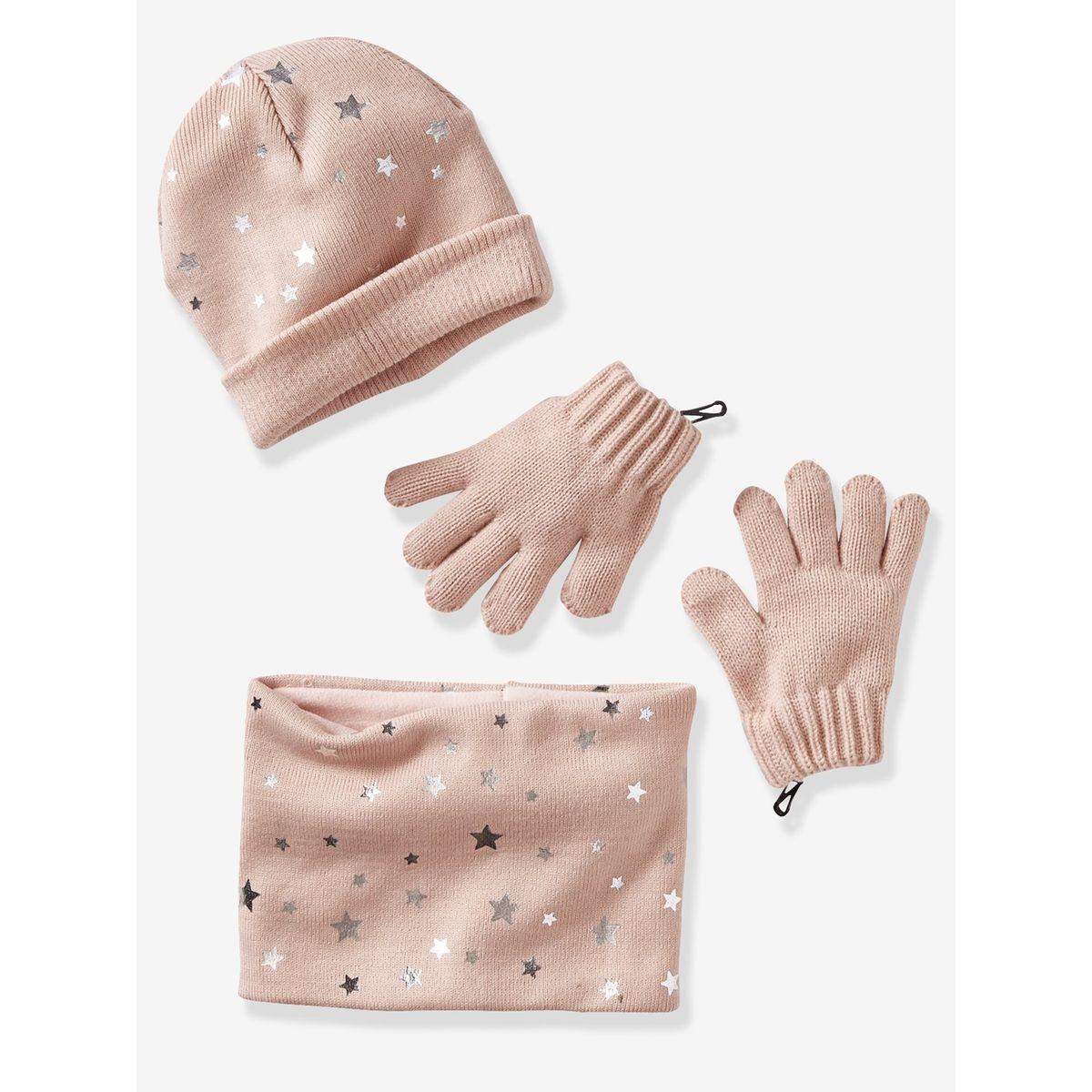 4c539c2be8c Vertbaudet Bonnet snood gants